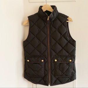 Black JCrew Excursion Quilted Vest